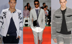 black and white mens trend