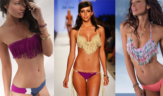 fringed swimwear