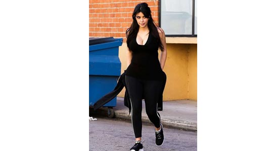 kim kardashian at gym