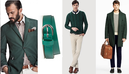 men emerald green