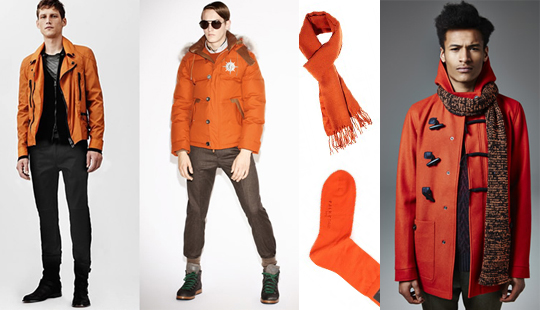 men orange color